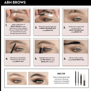 Anastasia Beverly Hills Makeup - ANASTASIA BEVERLY HILLS OMBRE BROW KIT/SOFT BROWN